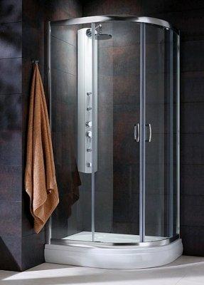 Radaway Premium Plus E120x90 (120x90x190) коричневая/хром (30493-01-08N)