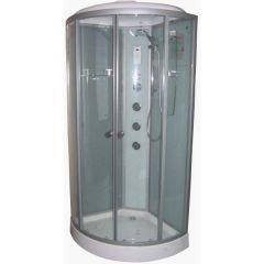 Гидробокс без пара на мелком поддоне 900*900*2175 мм, (сенс.упр.), прозрачное стекло