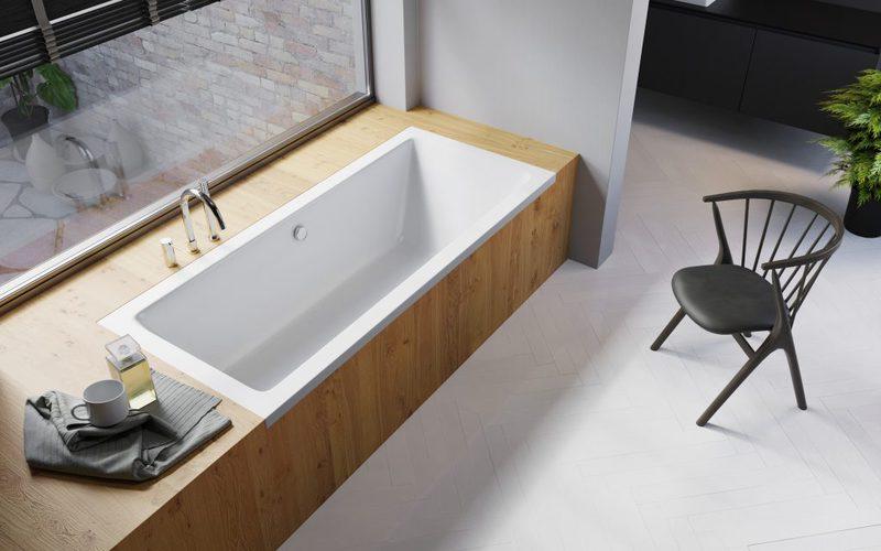 Акриловая ванна RADAWAY TEA 160х75 + ножки + сифон WA1-51-160x075